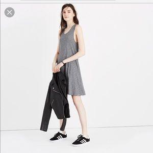 Madewell highpoint stripe tank dress Gray